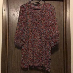 3/4 length sheer blouse